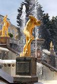Peterhof. Grand Cascade. — Stock Photo