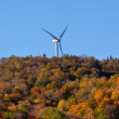 Wind turbine in fall — Stock Photo
