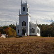 Vermont Church in Fall — Stockfoto