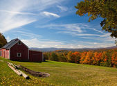 Vista autunnale in vermont — Foto Stock