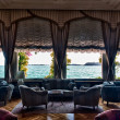 Hotel lounge and lake view — Stock Photo #4078464