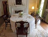 Sala de jantar antiga antiquada — Foto Stock