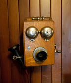 Antique Telephone — Stock Photo