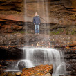 Stock Photo: Veil of water over Cucumber Falls