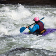 White water kayaking — Stock Photo #4124443