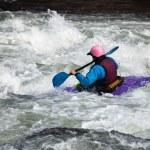 White water kayaking — Stock Photo