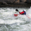 Stock Photo: White water kayaking