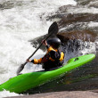 White water kayaking — Stok fotoğraf