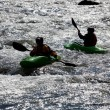 White water kayaking - Stockfoto