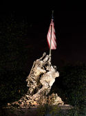 Night shot of Iwo Jima — Stock Photo