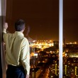 Man looking over city — Stock Photo