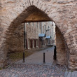 Arch in castle walls of Tallinn — Stock Photo
