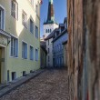 Old street in Tallinn — Stock Photo