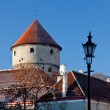 Town wall tower in Tallinn — Stockfoto