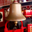 Bell on firetruck — Stock Photo