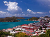 Town of Charlotte Amalie and Harbor — Stock Photo
