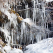 Weeping wall in Smoky Mountains covered in ice — Stock Photo