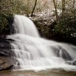 Laurel Falls in Smoky Mountains in snow — Stock Photo