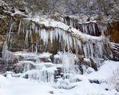 嘆きの壁スモーキー山脈で氷で覆われて — ストック写真