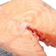 Frozen salmon steaks — Stock Photo #4669273