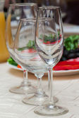 Wine glasses on a table — Stock Photo