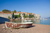 Sveti Stefan island-resort, Montenegro — Stock Photo
