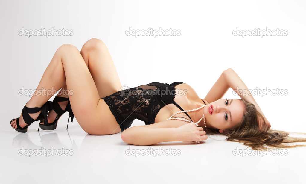 Women lie on the floor. — Stock Photo #4397738