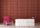 Purple chair in the bathroom — Stock Photo
