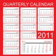 Quarterly calendar 2011 - Stock Vector