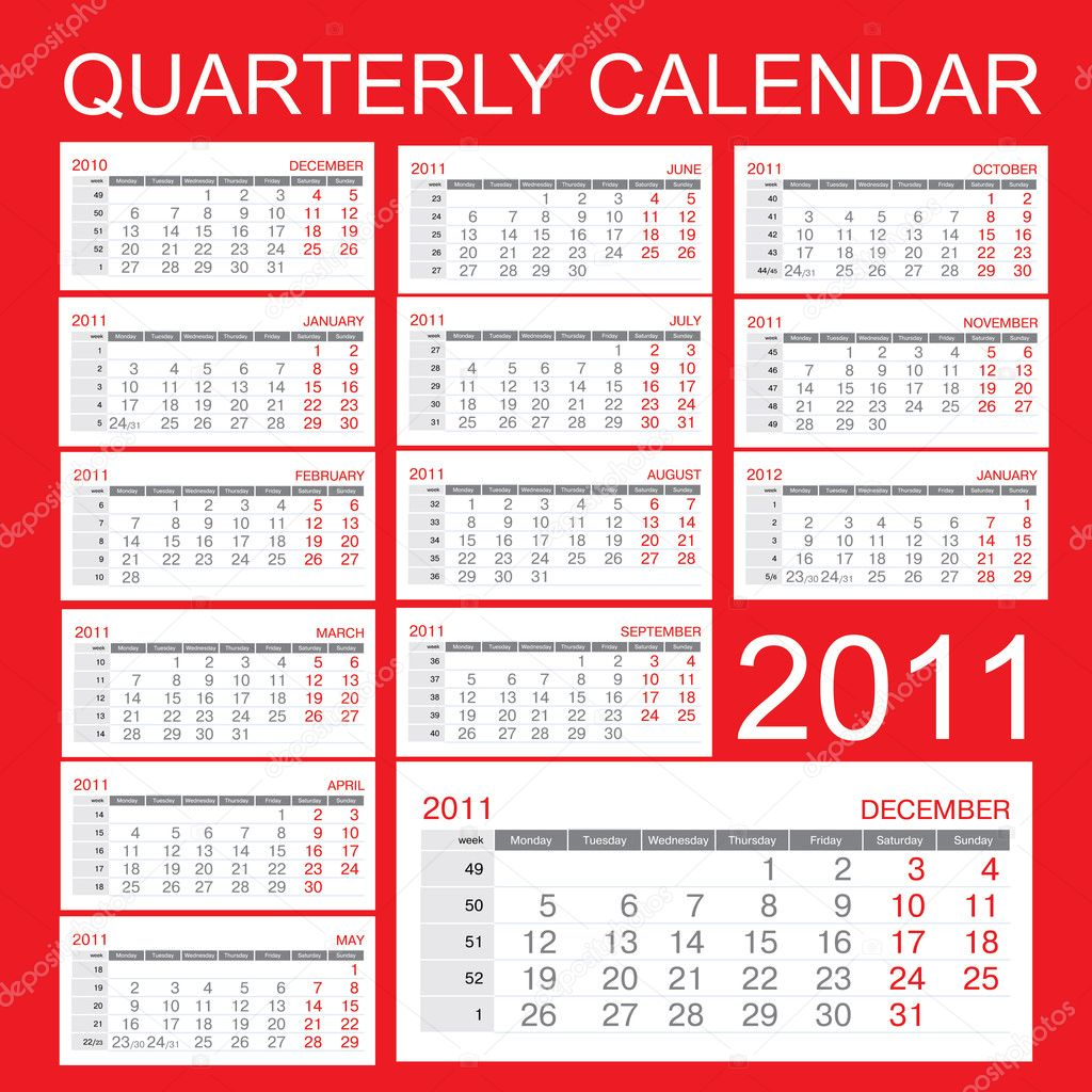 Quarterly Calendar Design : Quarterly free printable calendars