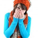 Sneezing woman — Stock Photo #4905686