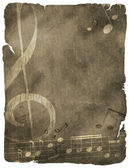 Grunge musical background. — Stock Photo