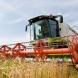 Harvesting combine in the wheat field — Stock Photo #5365676