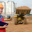 Builder inspector at construction area — Stock Photo #5366042