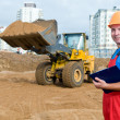 Builder inspector at construction area — Stock Photo #5366053