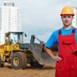 Builder inspector at construction area — Foto de Stock
