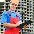 Positive builder worker - Stock Photo
