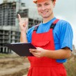 Builder inspector with idea — Stock Photo