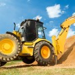 Excavator Loader with backhoe works — Stock Photo #5366752