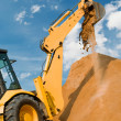 Loader excavation construction works — Stock Photo