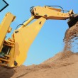 Excavator Loader with backhoe works — Stock fotografie