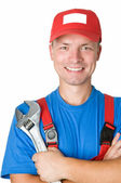 Happy repairman worker serviceman — Stock Photo