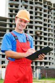 Positive builder worker — Stock Photo