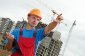 Builder worker with clipboard — Stock Photo