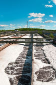 Group from the big sedimentation drainages — Stock Photo