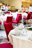 Events preparation for dinner — Stock Photo