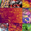 Multicolored graffitis - Stock Photo