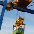 Crane with container - Stock Photo