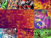 Multicolored graffitis — Stock Photo