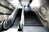 Scary escalator — Stock Photo